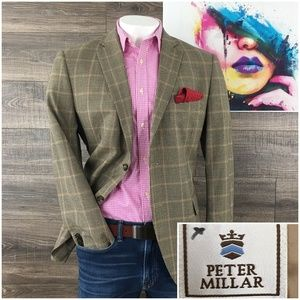 Peter Millar Mens Blazer Sport Coat Jacket Wool